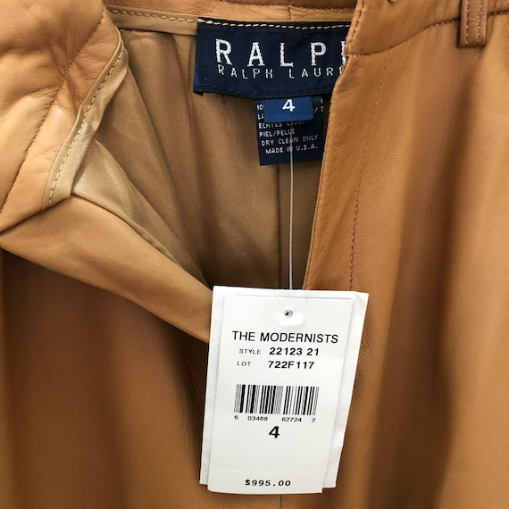 many styles big discount sale 2019 clearance sale RALPH LAUREN NEW with tags - Leather pants Brown
