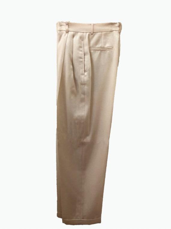 Concepteur de pantalon en - RALPH LAUREN Collection Purple Label - Beige, pantalons de laine crème-Designer vêtements femmes taille 6