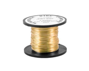 1 x Golden Plated Brass 0.8mm x 6m Square Craft Wire Coil W8080