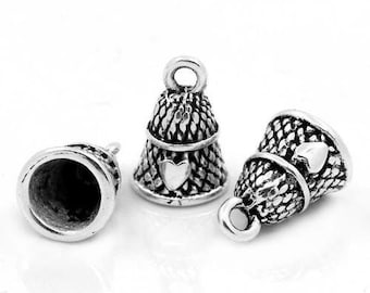 Sterling Silver Thimble Charm Sewing Charm Vintage Thimble Charm Tailor Charm Seamstress Charm