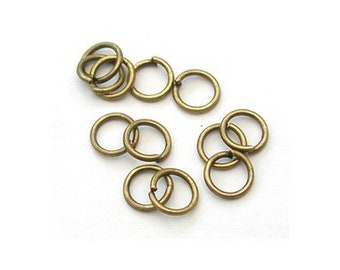 Antique Bronze Plated Iron Round Split Rings 0.7 x 6mm HA11915 Packet 350