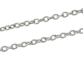 Metal Alloy Cable Chain 10M Antique Bronze Anti Tarnish 2 x 3mm Open Links