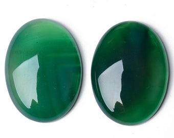 Semi Precious Handcraft Loose Stone For Jewelry Making Top 44 Ct 36X25 mm #607 Amazing Green Onyx Cabochon Natural Green Onyx Gemstone