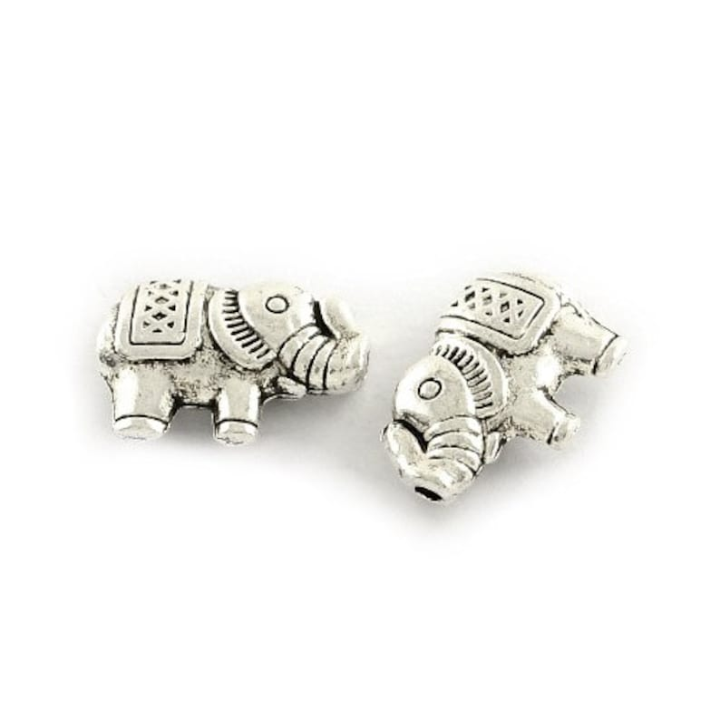 Packet of 15 x Antique Silver Tibetan 21mm Charms Pendants ZX15820 - Unicorn - Charming Beads