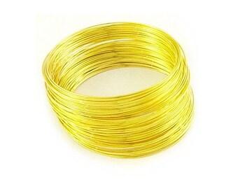 30 x Golden Steel Round Memory Wire Loops 0.6mm x 11.5cm HA13035