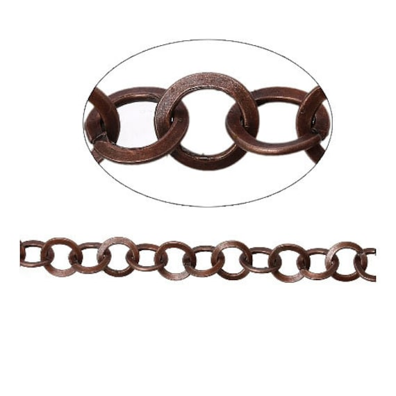 10m x Black Anti Tarnish Metal Alloy 2 x 3mm Open Cable Chain CH1650