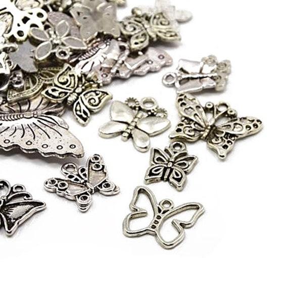 Tree Charm//Pendant Tibetan Antique Silver 5-40mm  30 Grams Accessory Jewellery