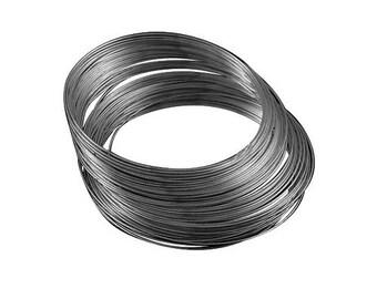 Packet 20 x Black Steel Round Memory Wire Loops 1mm HA12785