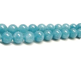 Strand 60+ Blue Sponge Quartz 6mm Plain Round Beads GS2666-2