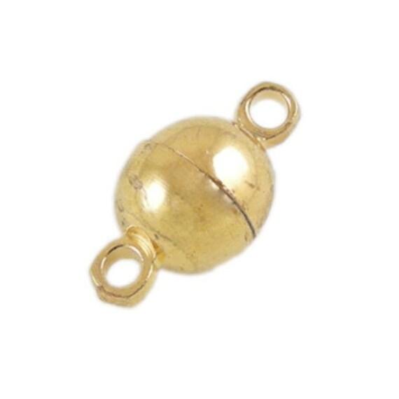 Packet 10 x Golden Plated Brass Barrel End Caps 10mm HA03260