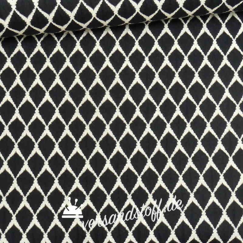 54ff86ff3fb Jacquard Jersey Lisa with diamond pattern in black and white SONDERPREIS
