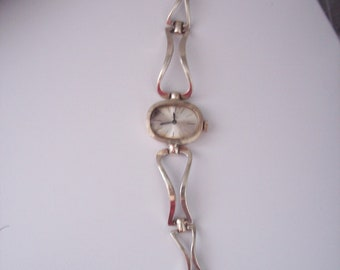 Vintage European  835 Sterling Silver watch By Mardi