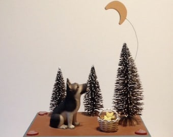 German Shepherd Urn, Dog Urn, Pet Urn, Pet Keepsake Box, Pet Memorial Box, Pet Loss, Cremation Pet Urn