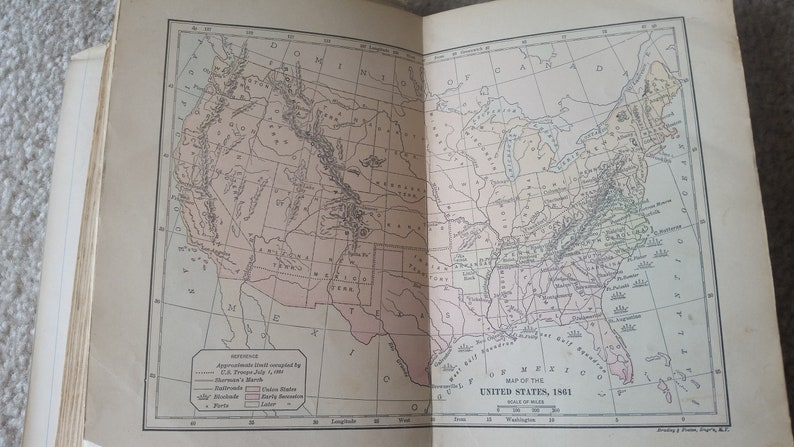 1903 - The Leading Facts of American History - Original Antique Book! Tons  of Maps!