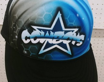 Airbrush Dallas Cowboys caps 50609e97b