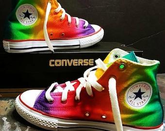 5ee14b2a1efa7b Airbrushed Rainbow Converse