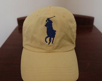 Polo Ralph Lauren Light Yellow Big Pony Leather Strap 56cm-59cm cb2ec7d4db3b