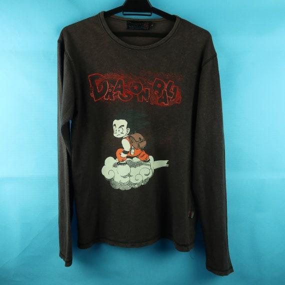 Dragon Ball Vintage Brown Long Sleeves Shirt sz S