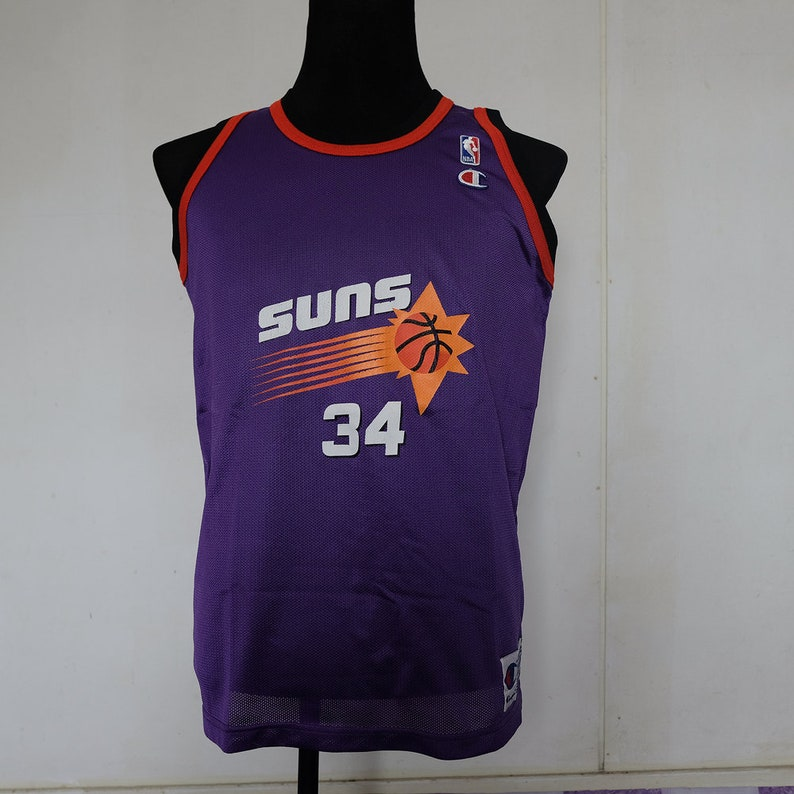 new arrival 9cbda 26c16 Vintage NBA Champion Phoenix Suns Jersey Charles Barkley Purple