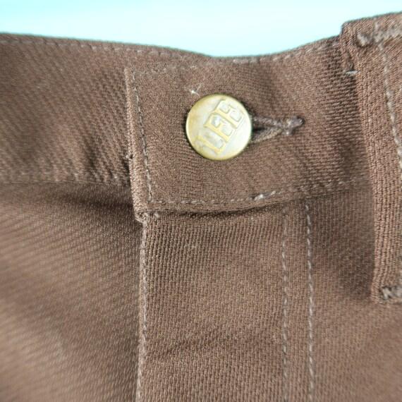 Vintage Lee Riders Short Pants Brown sz W33 - image 3
