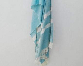 Handmade Kenyan Cotton Throw Blanket