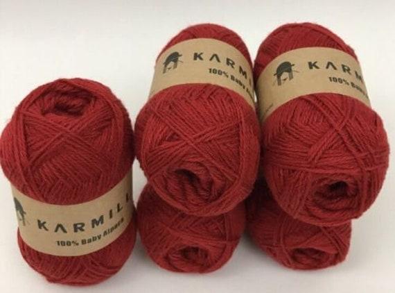 Alpaca Wool Skeins 100/% Baby Alpaca Yarn Lot of 5 Blue Purple Color 41021