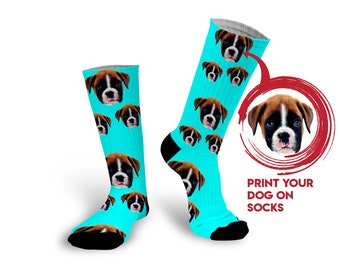 Custom dog socks Dog photo socks Customized dog socks Dog on socks Dog  picture socks Custom pet socks Personalized dog socks 57baba118c
