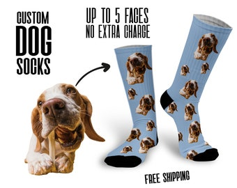 Custom Dog Socks, Personalized Socks with Dog Face, Dog Face Socks, Custom pet socks, Pet parent gift Photo socks
