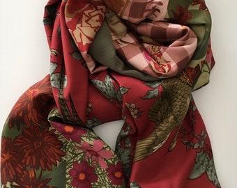 Big silk shawl