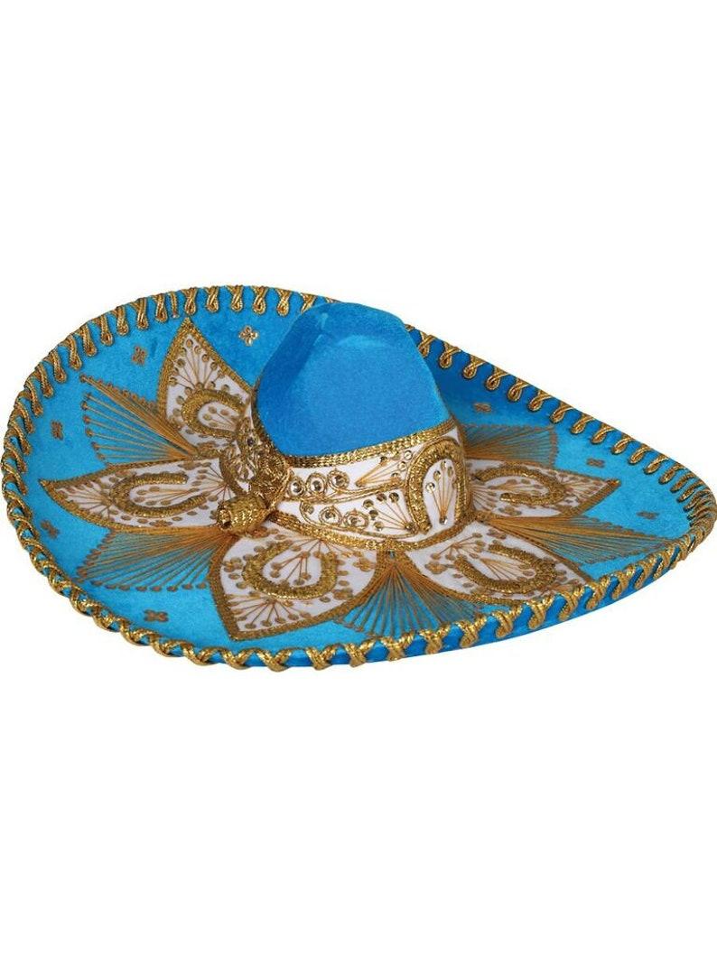 377e86f536e93 Sombrero Charro azul marino dorado-600755