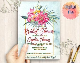Printable Tropical Bachelorette Weekend Invitation