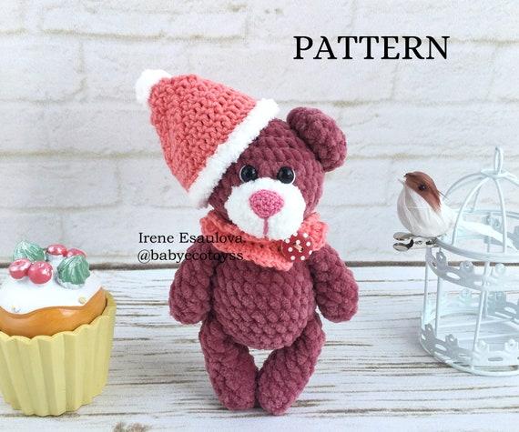 Crochet Teddy Bear - Free Pattern! - Leelee Knits | 475x570