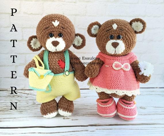 Crochet Teddy Bear Written Pattern and Video ~ Amigurumi To Go | Crochet  christmas hats, Crochet winter hats, Crochet teddy | 475x570