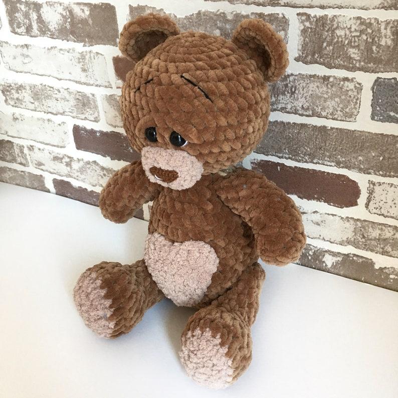 Crochet custom Brown Teddy bear  Amigurumi Stuffed toy  Plush Animal bears  MADE TO ORDER  Spring craft for mom and kids