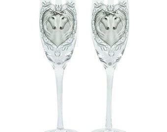 Anne Stokes Champagne Glasses