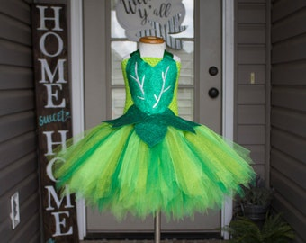 df9c3fff0b59 Tinkerbell Green Fairy Inspired Tutu Dress Costume