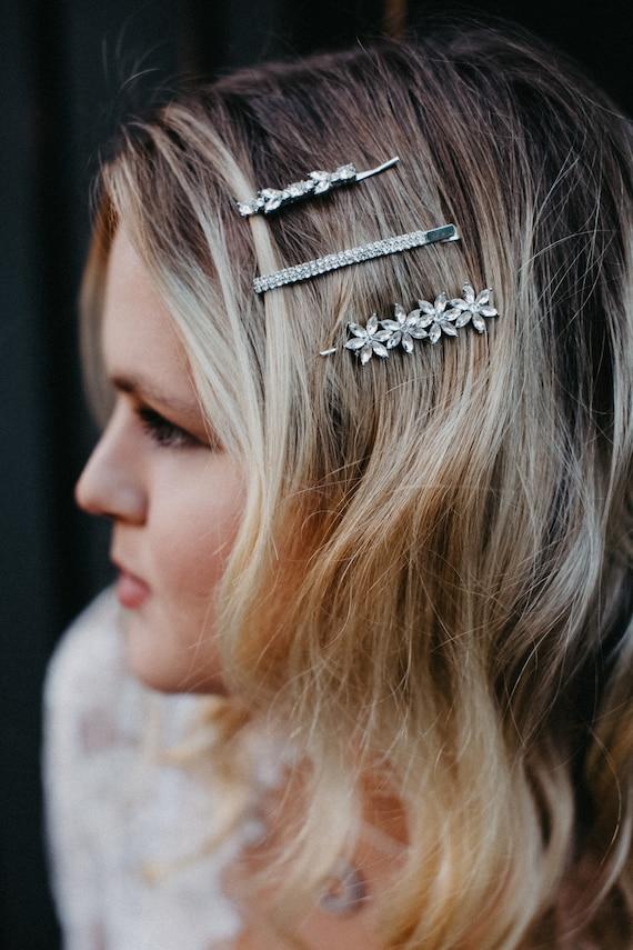 Bumble bee sliver gold Hair Clip accessories Beach grip hair slide clip bracelet