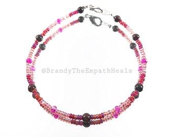 Reiki Charged Garnet Bracelet