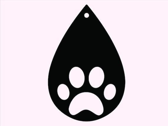 a2375973e Teardrop Earring with Dog Paw DIY earrings dog paw earring | Etsy