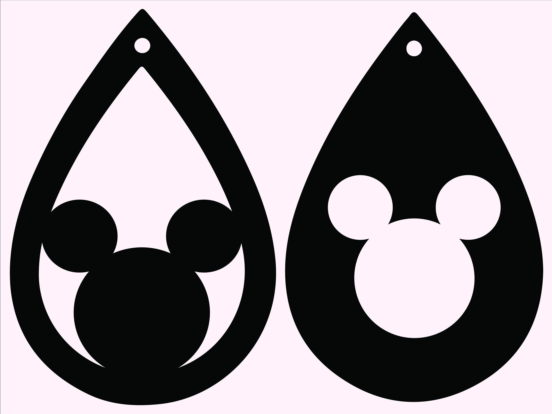Download Tear Drop Earrings-Earrings Svg Teardrop Svg Mickey Svg | Etsy