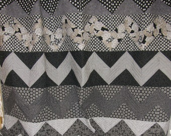 Black and White Chevron Quilt