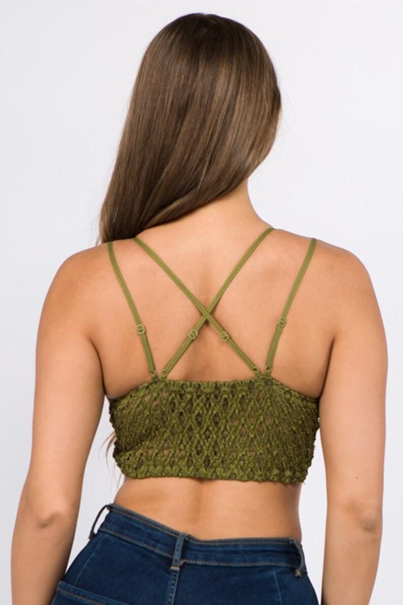 Aqua beautiful crochet lace bralette