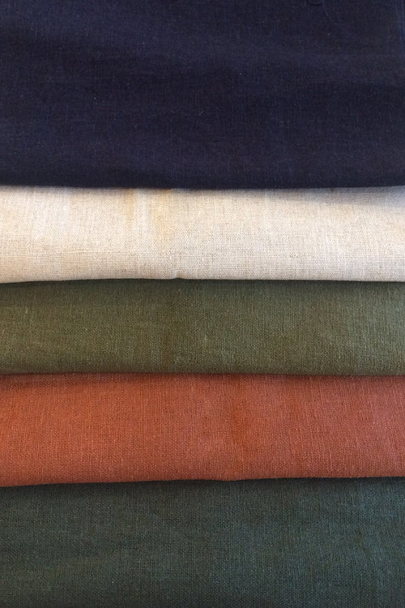 1 Yard Solid Linen Blend Fabric image 0