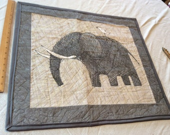 Elephant Art Quilted Wall Hanging