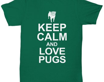 T-shirt love my pug.