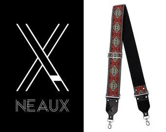 Vintage style camera strap by NEAUX - X RED