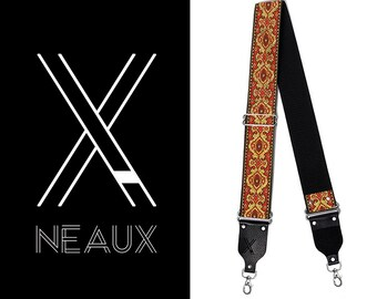 Vintage style camera strap by NEAUX - RED ELVIS