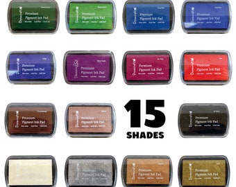 Dovecraft Pigment Ink Stamp Pad -  15 Shades - Stamping - Black White Metallic Gold Copper Silver Red Purple Blue Green White Brown Pink