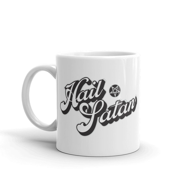 Hail Satan Ceramic Coffee Mug