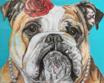 Custom Pet Portrait. Original Artwork. Unique Pet Portraits. Gift idea. Pet Lover. Custom Dog Art